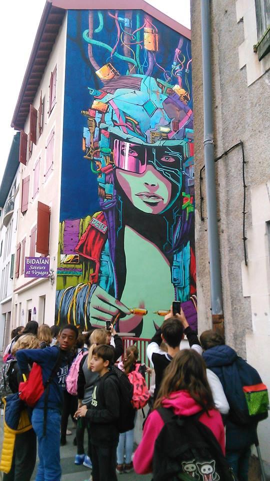 Super héros et Street Art Bayonne 2017