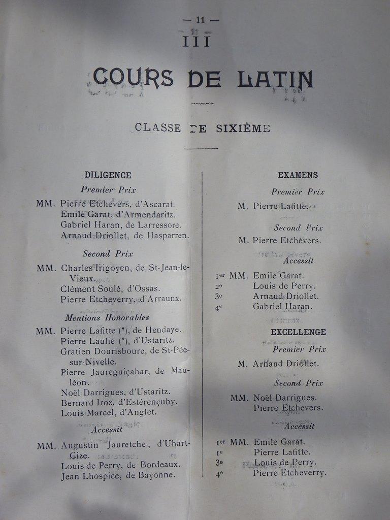 Prix remis en 1912