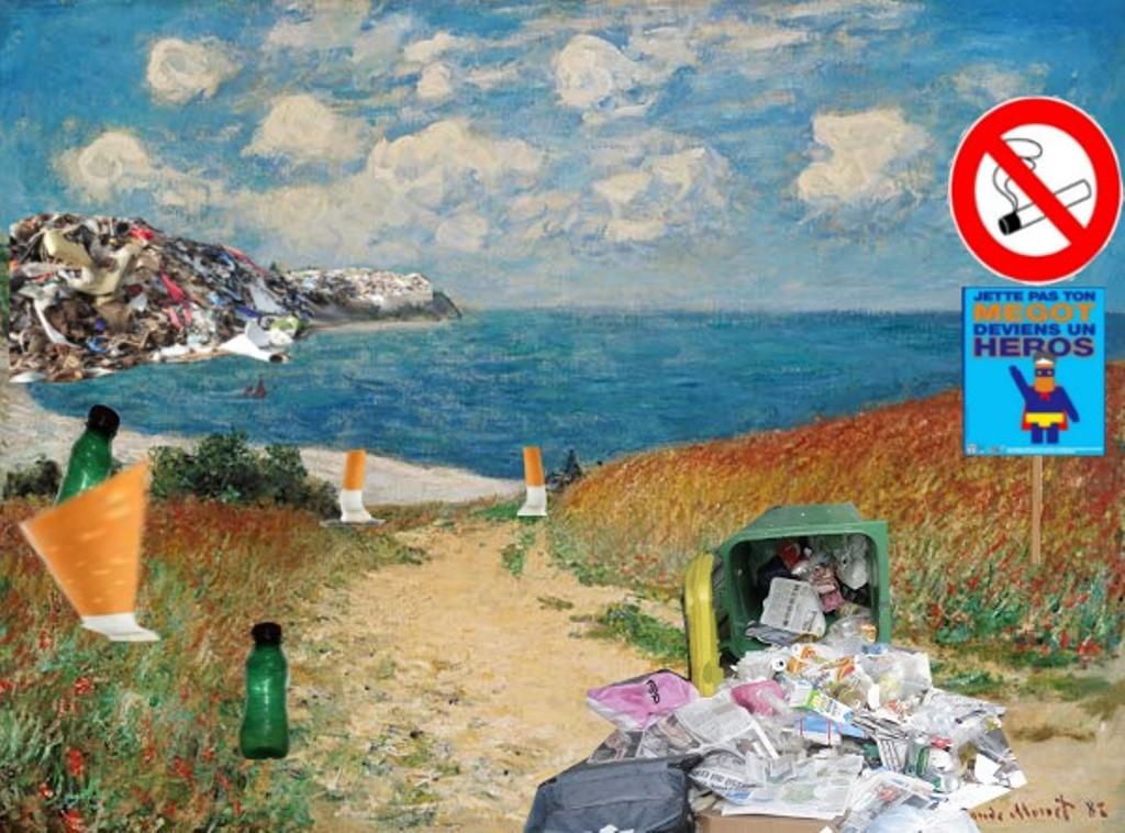 Arts plastiques 4eme sur l\'écologie (Benoît et Bixente)