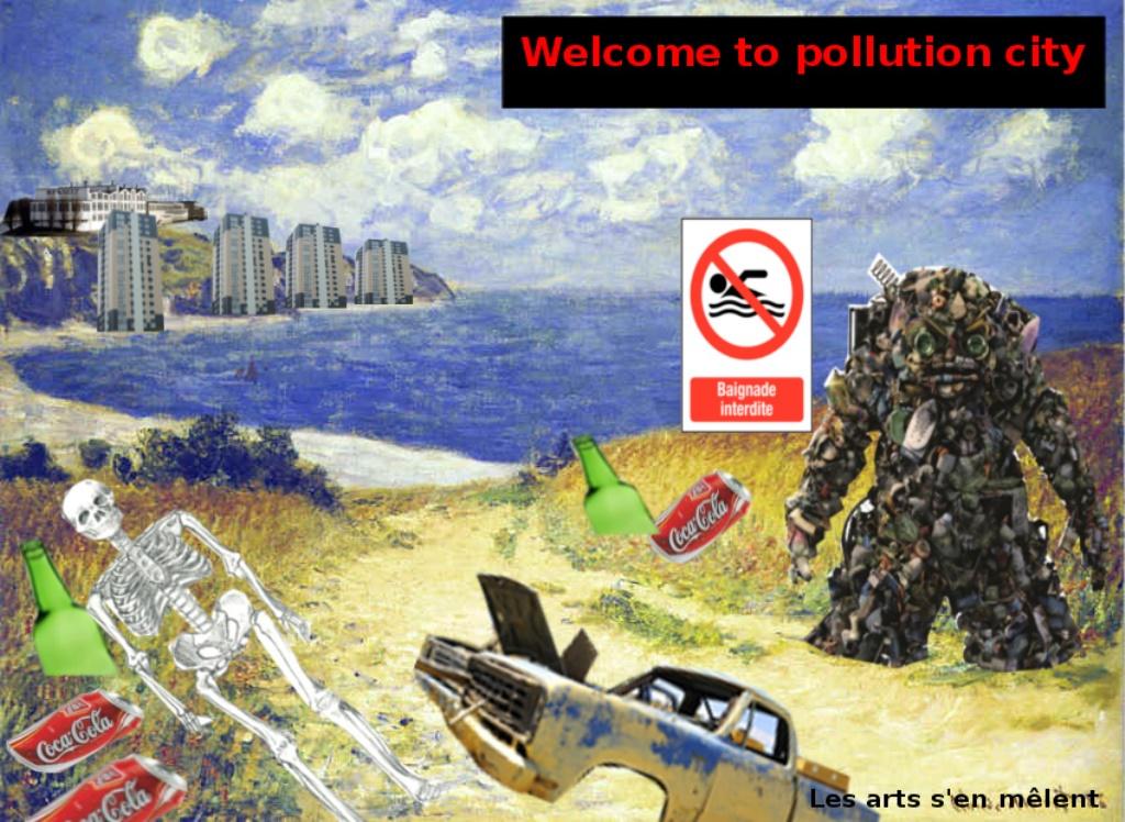 Arts plastiques 4eme sur l\'écologie (Hugo et Léo)