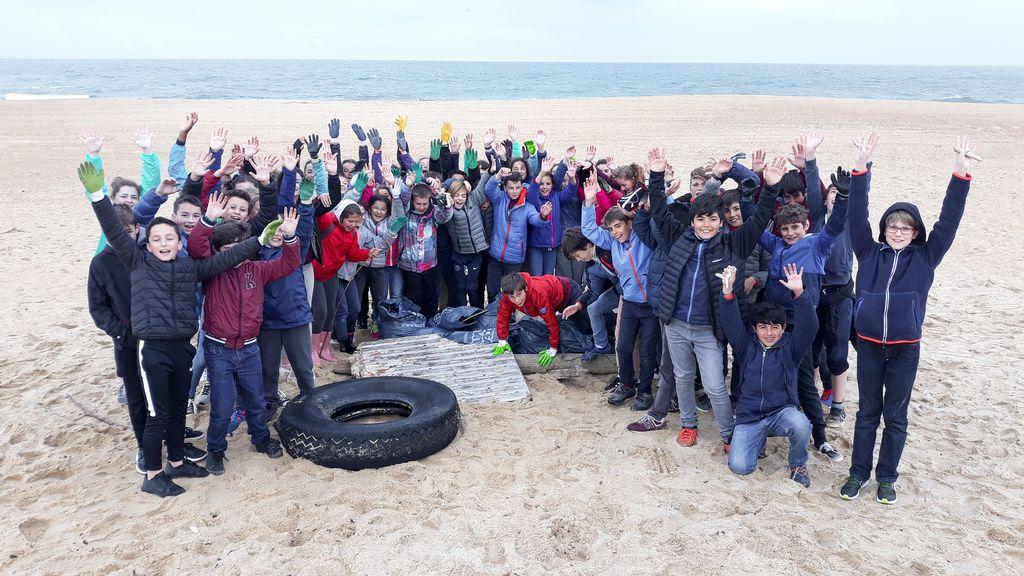 Uztaola 6eme : Nettoyage de plage