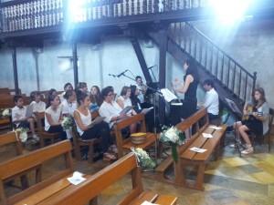 Choeur liturgique lors d'une préparation de messe de mariage