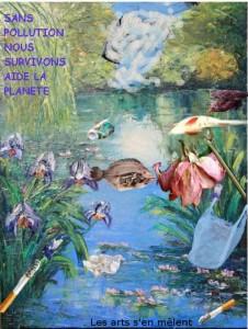 Ecologie et Arts plastiques : Affiche de Marine et Emma