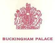 Armoiries du Royaume-Uni figurant sur la lettre