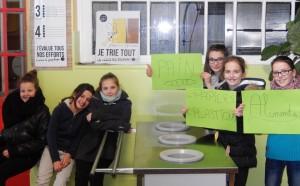 La campagne anti-gaspillage des 6emeB continue...