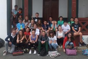 La classe d'élèves bilingues 5eme de Mme Haiçaguerre