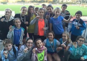 Nos médaillés du cross départemental 2015