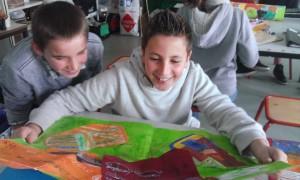 Mail art : les élèves de 6ème reçoivent les réponses envoyées par les collégiens de Saint-Pée-sur-Nivelle