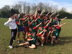 Nos minimes garçons champions Vice-champions interacadémiques 2016
