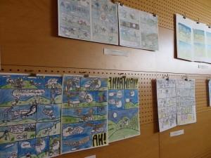 Exposition BD de nos élèves bilingues à Cambo