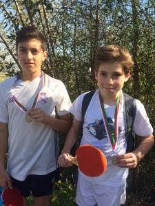 Ignacio et Bixente, médailles d'argent en tennis de table