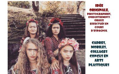 Exposition Frida Kahlo des 3emes à l'Atelier Canopé de Bayonne